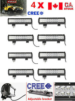 8PCS 12INCH 72W CREE LED Work Light Bar Spot Beam for Offroad JEEP SUV 4WD ATV
