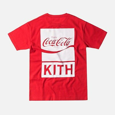 Kith X Coca Cola Coke It's The Real Thing Tee Red XS