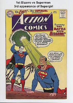ACTION COMICS #254 - BEAUTIFUL HIGHER GRADE - 1st BIZARRO, 3rd SUPERGIRL SCARCE!