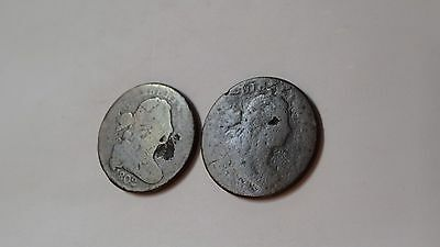 1801 ? &1802 Large Cents, Draped Bust Style.