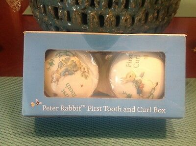 Peter Rabbit First Tooth and Curl Box.