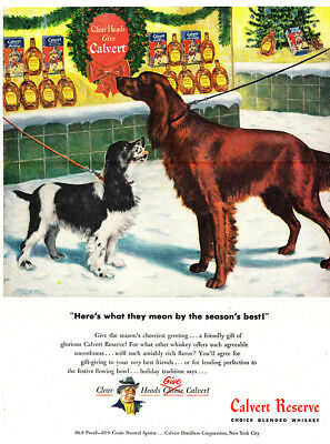 1947 Calvert Reserve: What They Mean by the Seasons Best (26115) Print Ad