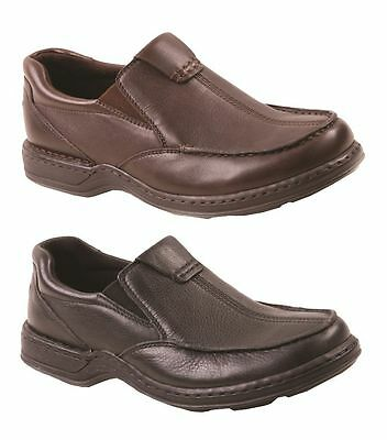 Mens HUSH PUPPIES SAWYER II EXTRA WIDE FORMAL/DRESS/WORK/LEATHER SHOES