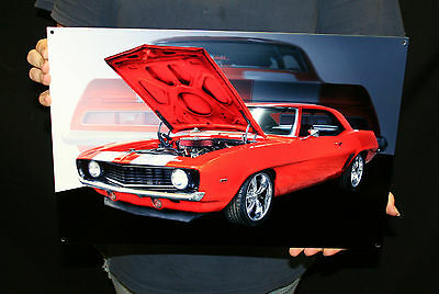 NEW CHEVROLET 1969 CAMARO SS (GMWALL 22 18X12) - Metal Sign - PhotoSTEEL