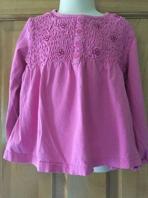 Toddler Girls Arizona Long Sleeve Cotton Shirt Size 4T Pink