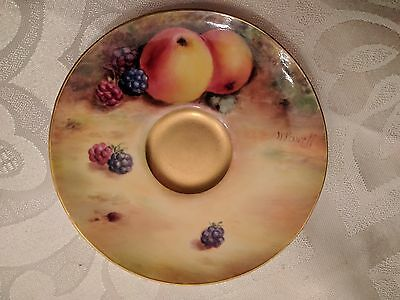 Royal Worcester Hand Painted Saucer Signed H Powell