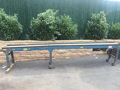 "190"" long Hytrol Steel 18"" belt conveyor w/ 1 HP motor"