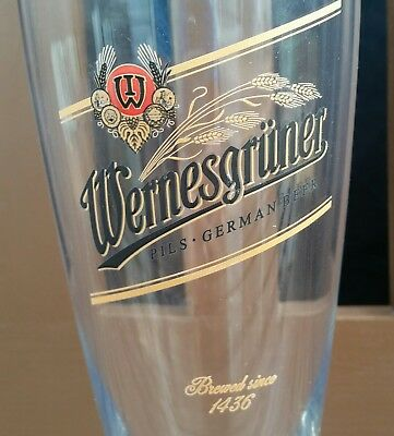 Wernesgruner 23 oz Pilsner Beer Glass Clear