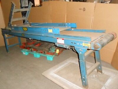"120"" long Hytrol Steel 18"" belt conveyor w/ Reliance 1 HP motor"