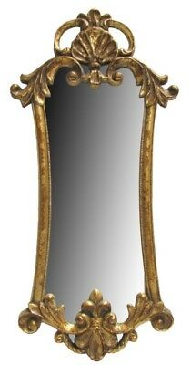"Ornate Antique Style Vintage Gold Gilt Rococo Baroque Mirror 32 3/4"" X 15 No Tax"