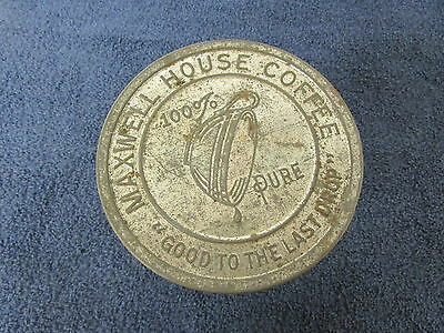 """Maxwell House Coffee Tin Can """"Good To The Last Drop"""" Embossed Vintage H1-5"""