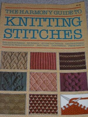 The Harmony Guide To Knitting Stitches Knit Patterns Book Knitting Needles