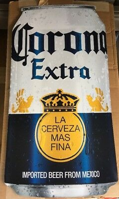 Corona Can Tin Sign Man Cave Home Bar 12.75x24""