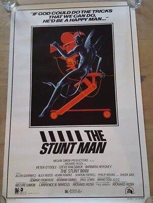 MINT ROLLED The Stunt Man 1980 1 sheet 27x41 ORIGINAL Movie Poster Peter O'Toole
