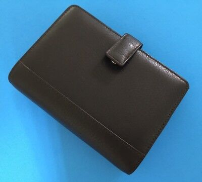 New Bridgetowne Leather Address Book Weekly Minder Agenda Planner - Black (3