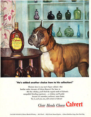 1948 Calvert Reserve: He Added Another Choice Item (24572) Print Ad