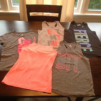 Old Navy Girl's Sz L 10/12 Lot Of 5 Tank Tops, Tee T-Shirt