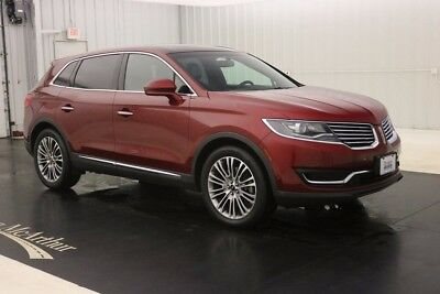 2016 Lincoln MKX RESERVE AWD NAV SUNROOF MSRP $50760 BLIND SPOT MONITORING  WITH CROSS TRAFFIC ALERT ENHANCED ACTIVE PARK ASSIST
