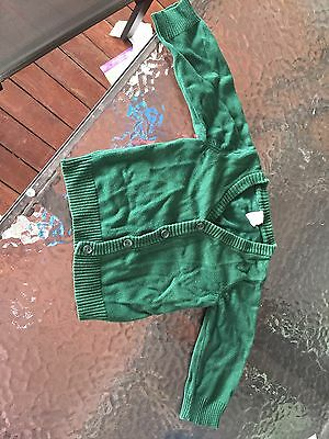 H&M Green Knit Cardigan Sz EUR74 6-9mths