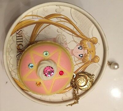 q-pot qpot sailor moon macaroon macaron necklace USED USA SELLER
