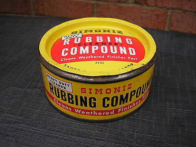 vintage Simoniz Rubbing Compound oil can - late 1940's early 1950's