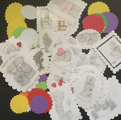 Bulk Card And Scrapbooking Embellishments.... Pack Of 50.... Tatty Teddy