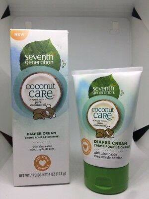 Seventh Generation Baby Diaper Cream With Soothing Coconut Care Tube, 4 Ounce