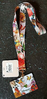 Disneyland Paris LANIERE Pin FEE CLOCHETTE FLEUR / LANYARD TINK FLOWER