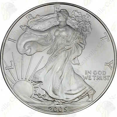 2005 1 oz American Silver Eagle – Brilliant Uncirculated – SKU #1399