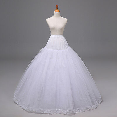 White Hoopless Ball Gown Petticoat/Crinoline/Underskirt/Slip for Wedding/Party