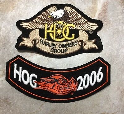Collectible New Harley Davidson Lot/2  Patches 2006 Harley Owners Group HOG