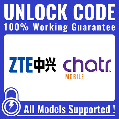 Unlock CODE for Chatr - ALL ZTE Axon Axon 7 Grand X 4 & Others