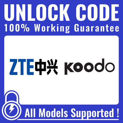 Unlock CODE for Koodo - ALL ZTE Axon Axon 7 Grand X 4 & Others