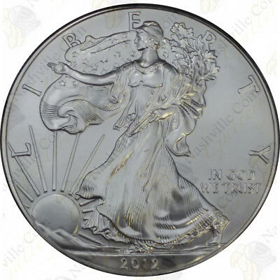 2012 1 oz American Silver Eagle - Brilliant Uncirculated - SKU #1406