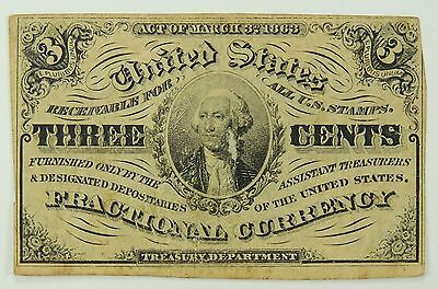 3C Three Cent 3rd (Third) Issue Fractional Currency
