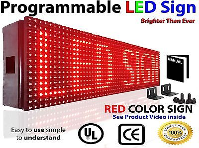 """25""""x6"""" Outdoor Programmable  RED color Led Open Sign Text Message Sign Board"""