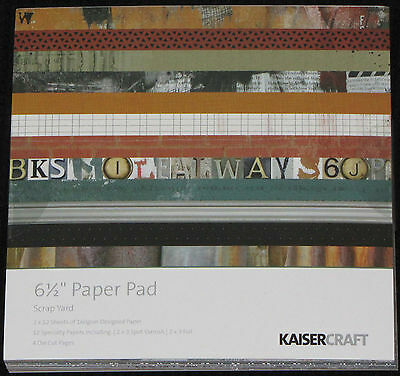 "Kaisercraft 'SCRAP YARD' 6.5"" Paper Pad KAISER *Deleted 1 LEFT ONLY*"