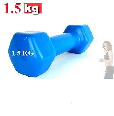 New Pair of Vinyl Coated Dumbbell Fitness from 0.5 Kg - 6 Kg Home Gym Hand New