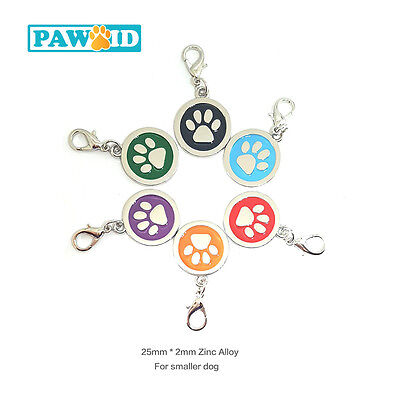 Deluxe Paw Pet Tag Small Dog Cat ID Name Tags Free Personalised Engraved - 25mm