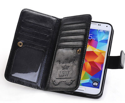 Slim Leather Wallet Card Back Case Cover For Samsung Galaxy S5 I9600