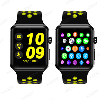 A1S Bluetooth Smart Watch SIM GSM Phone Mate Camera For Android Samsung Black