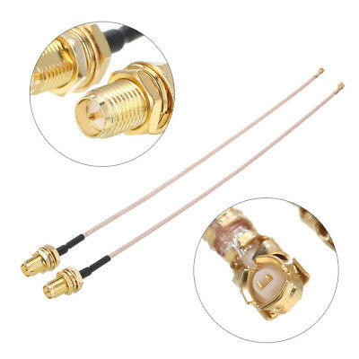 "2x 5.9"" RG178 RP SMA to uFL/u.FL/IPX/IPEX RF Female Adapter Extension Cable 15cm"