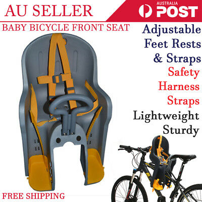 2 Ways Bicycle Kids Children Front Baby Seat Bike Carrier With Handrail Grey