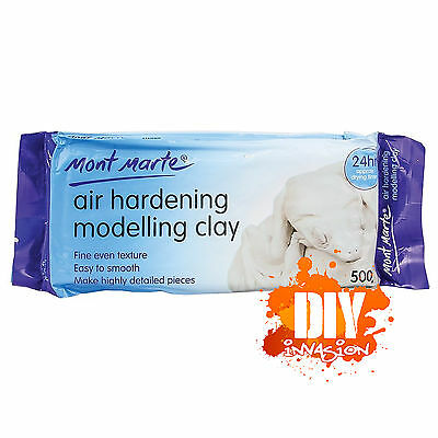 Mont Marte Air Hardening Modelling Clay White 500g 24hr Dry Fine Texture Smooth
