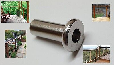 "Protective Sleeves for Cable Railing Fits up to 3/16"" Cable Stainless Steel"