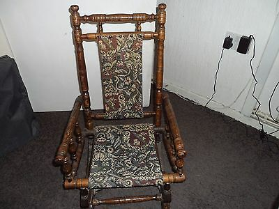 Antique Victorian American Style Child's Rocking Chair
