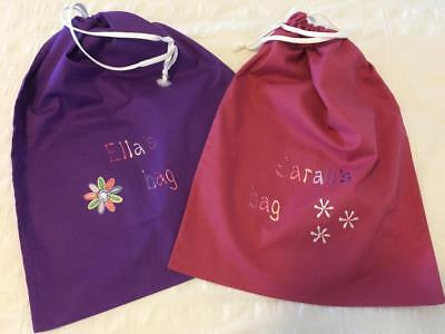 Girl's handmade personalised library/preschool/ballet/sport bags made to order