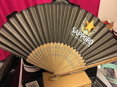 Sapporo Beer Fans! Lot Of 10 Bamboo & Paper !