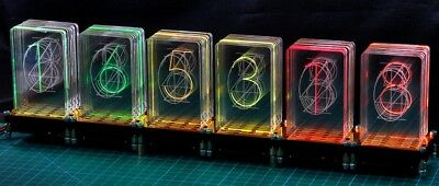 LED-Nixie-M, 6-stelliger Bausatz  LED-Uhr Nixie Design