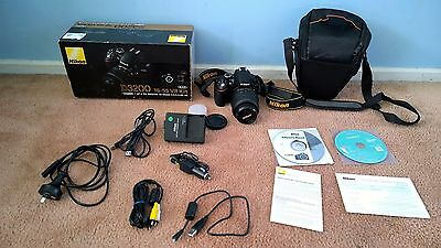 Nikon D3200 DSLR Camera with NIKKOR 18-55mm VR Lens,All Accessories in Box & Bag